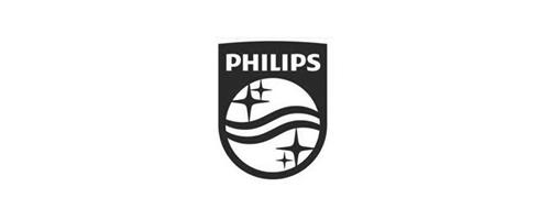 Logo philips zwart wit